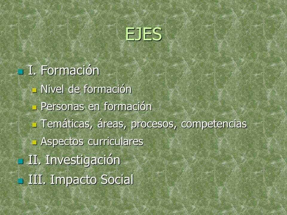 EJES I. Formación I.