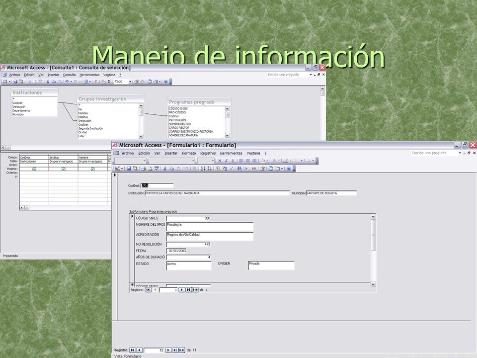 Manejo de información