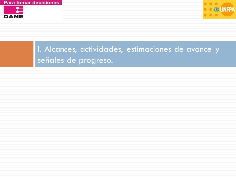 ALCANCE 5: DANE mejora su capacidad en la definición temática y desarrollos metodológicos orientados al monitoreo de las tendencias demográficas - proyecciones de población.