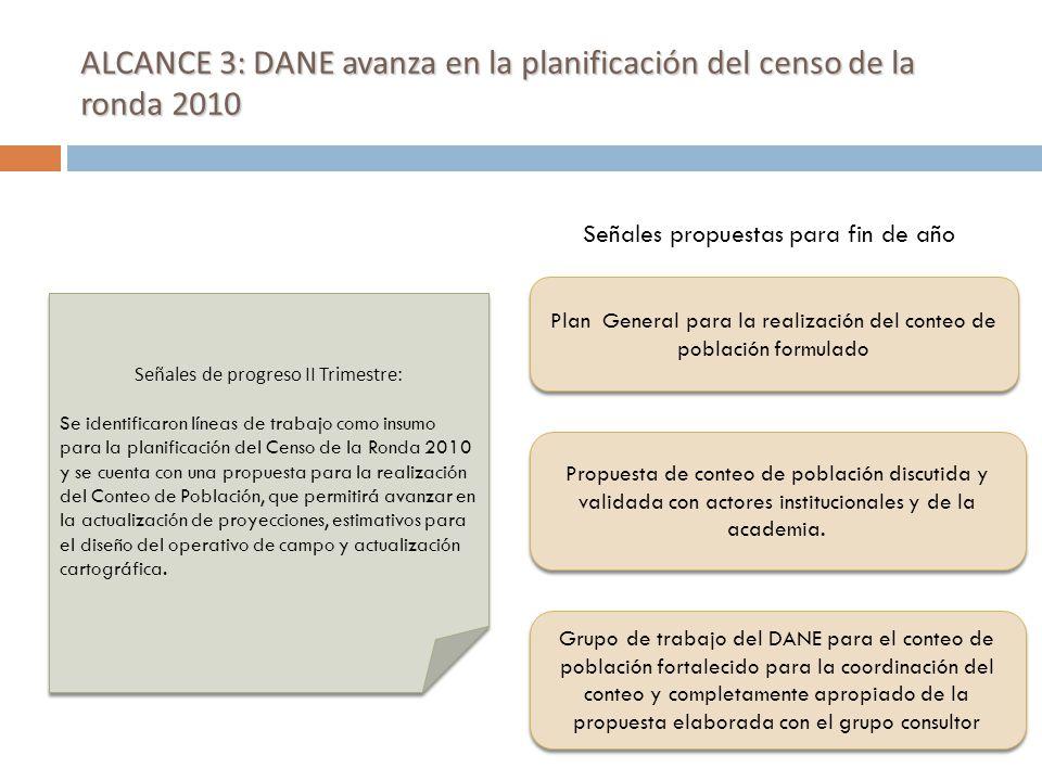 ALCANCE 4: DANE mejora su capacidad en la definición temática, desarrollos metodológicos y en el análisis de información sobre migración.