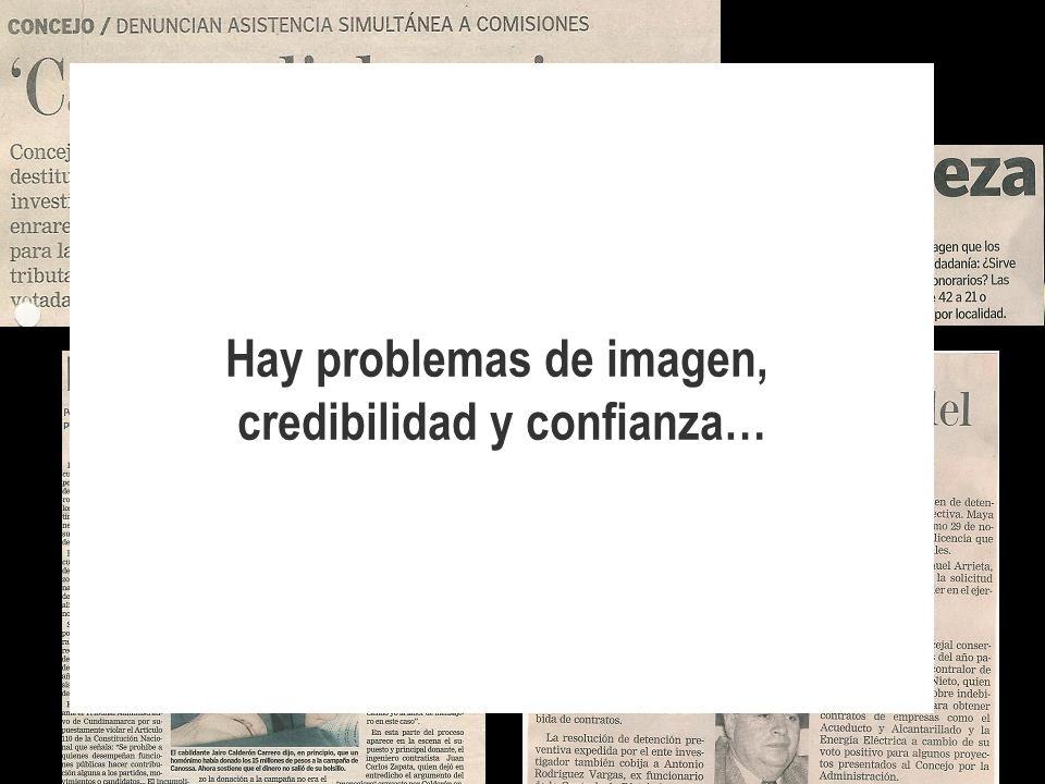 Hay problemas de imagen, credibilidad y confianza…