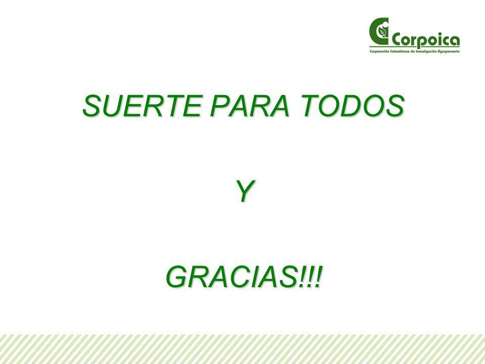 SUERTE PARA TODOS YGRACIAS!!!