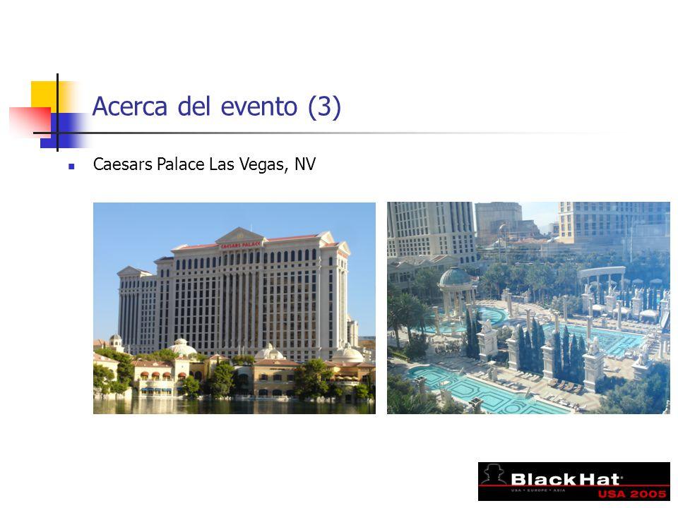 Acerca del evento (3) Caesars Palace Las Vegas, NV