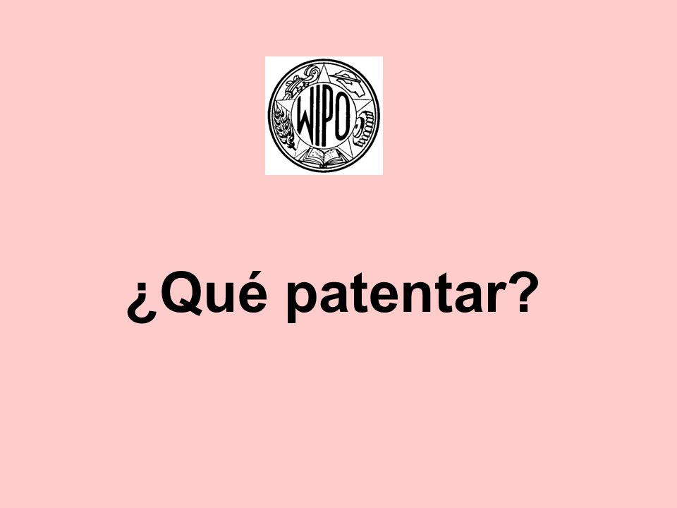 ¿Qué patentar?