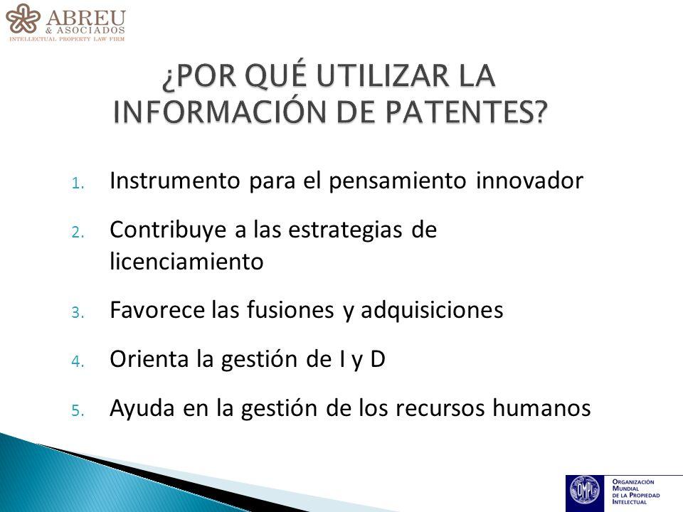 1. Instrumento para el pensamiento innovador 2. Contribuye a las estrategias de licenciamiento 3.
