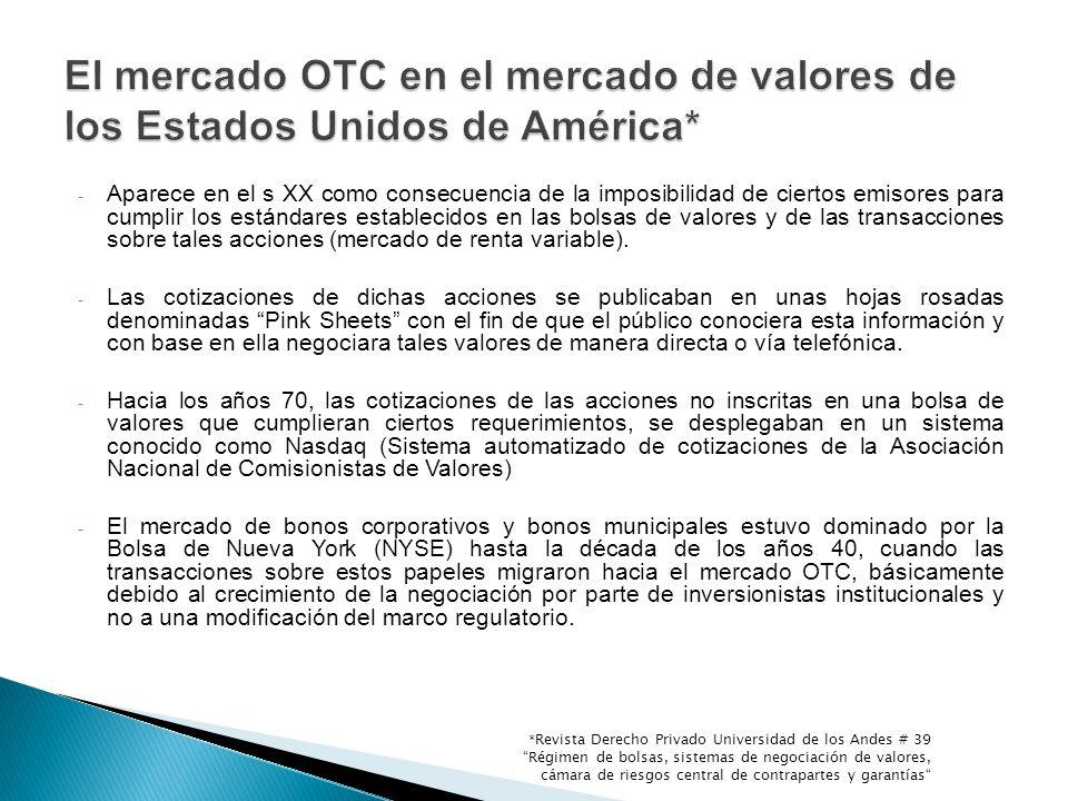 INSTRUCCIONES DE LA SFC - Procedimiento de reporte de las operaciones.