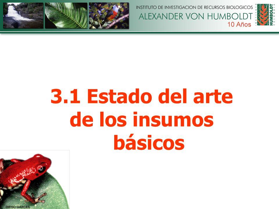 3.1 Estado del arte de los insumos básicos