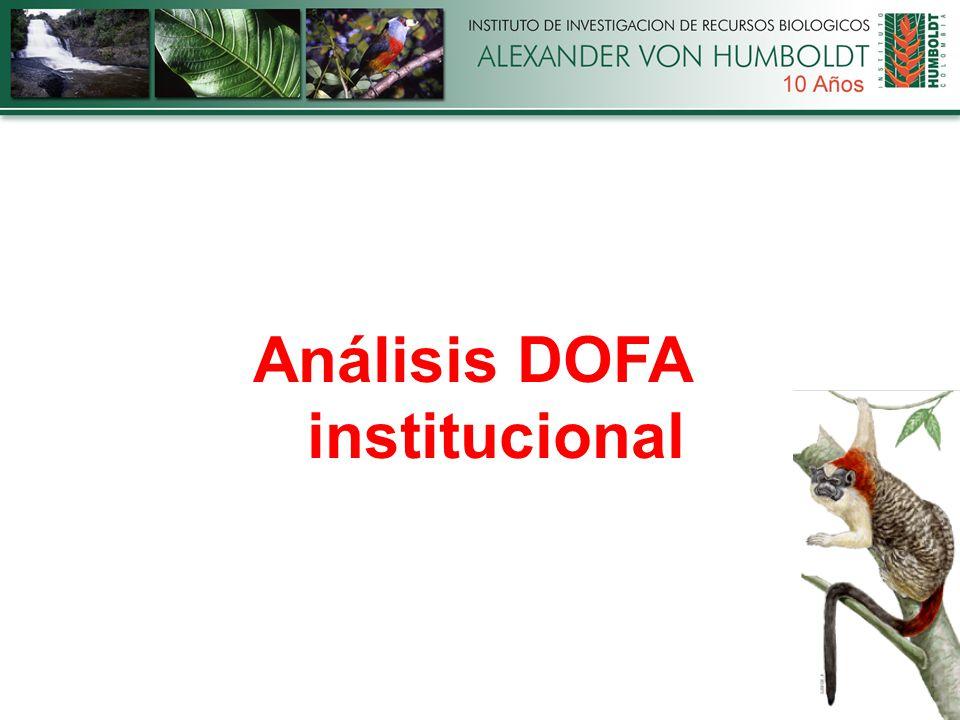 Análisis DOFA institucional