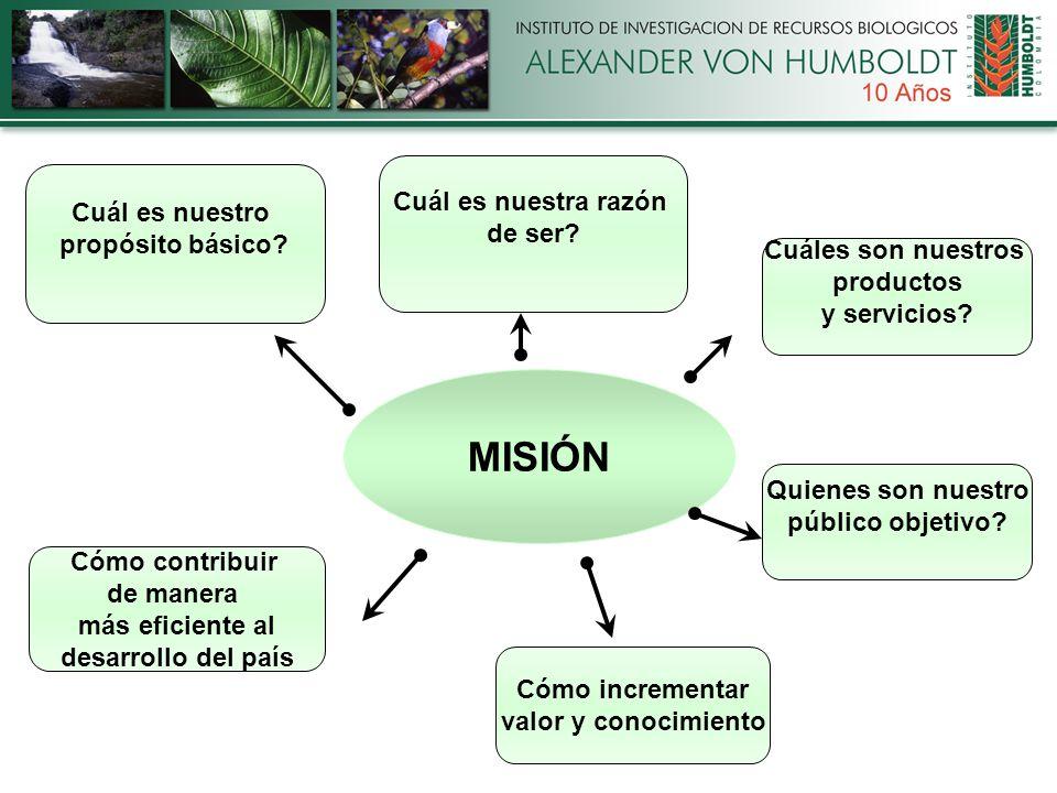MISIÓN Cuál es nuestra razón de ser. Quienes son nuestro público objetivo.