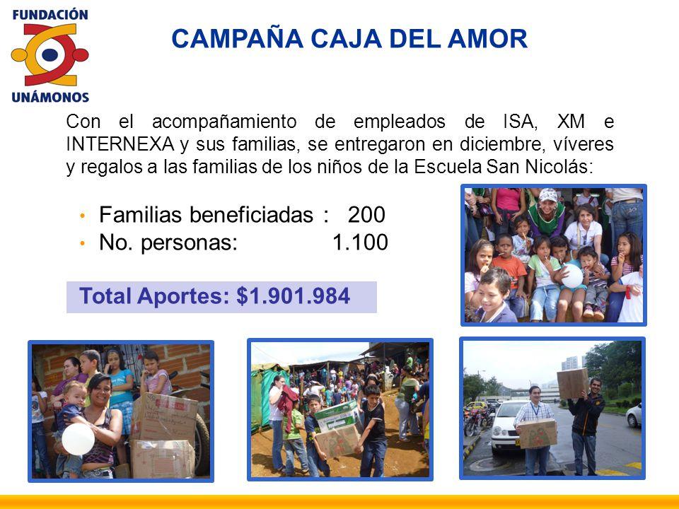 Con el acompañamiento de empleados de ISA, XM e INTERNEXA y sus familias, se entregaron en diciembre, víveres y regalos a las familias de los niños de