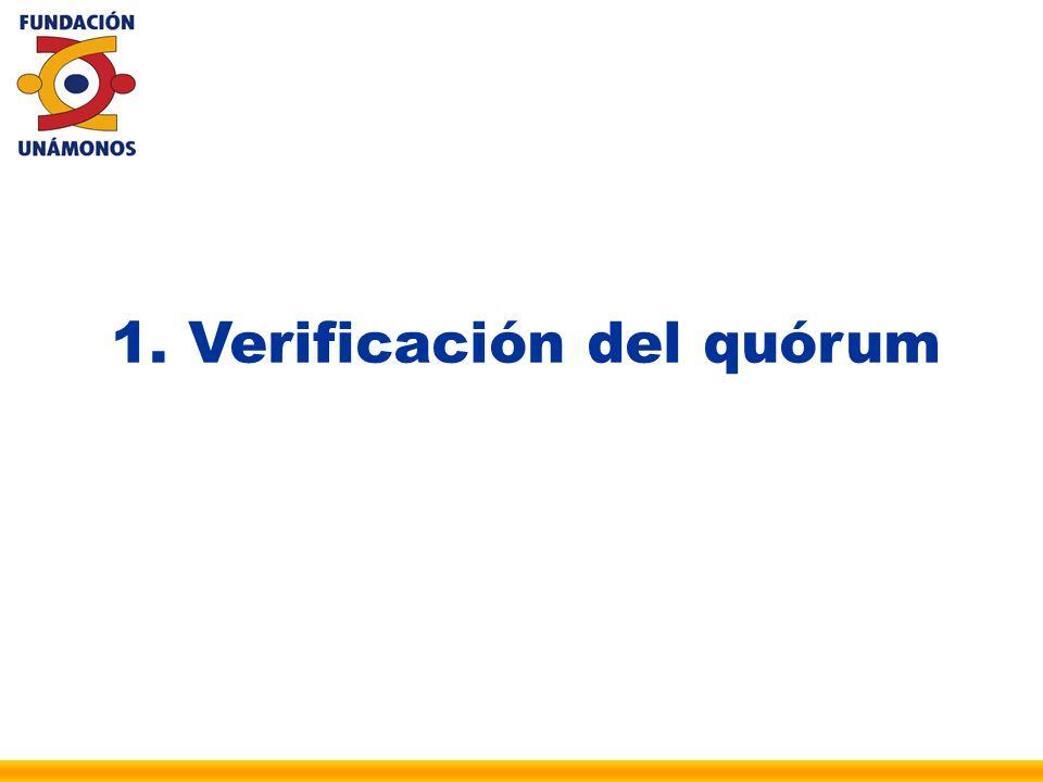1. Verificación del quórum