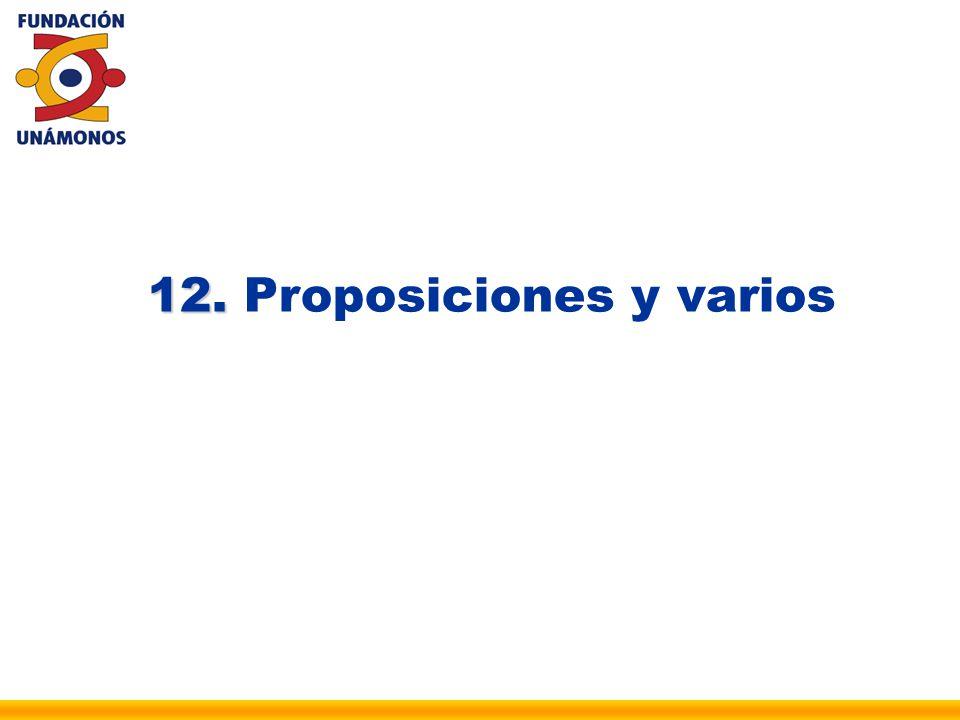 12. 12. Proposiciones y varios