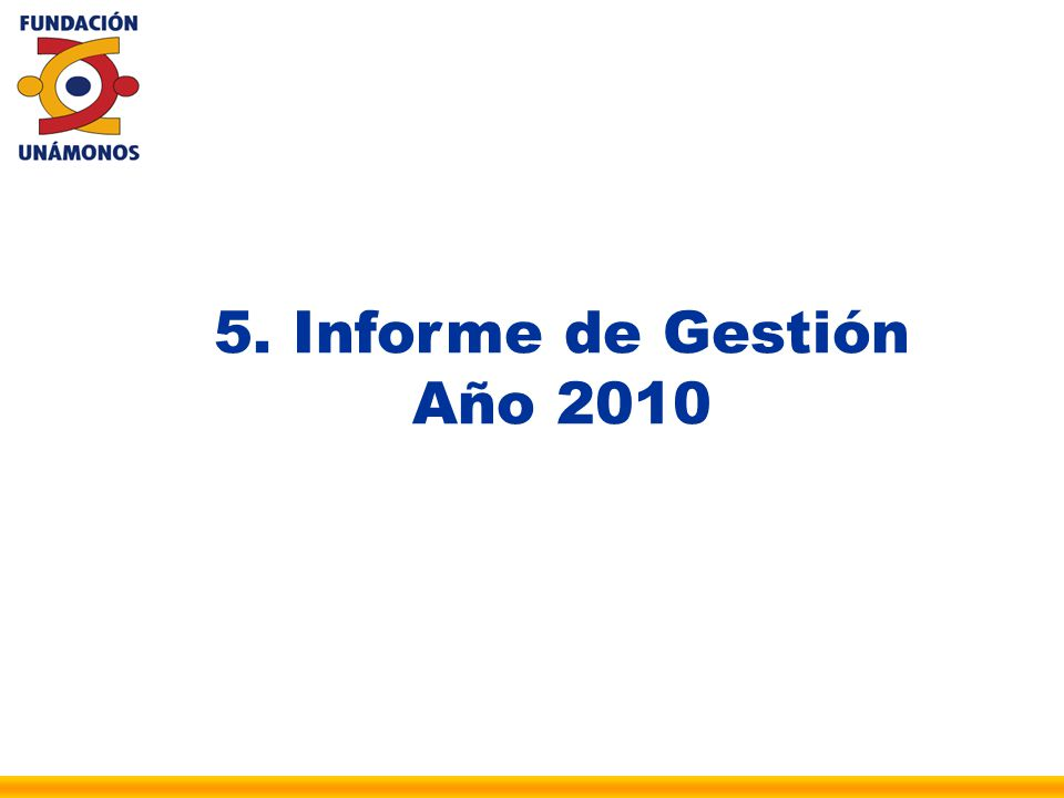 5. Informe de Gestión Año 2010