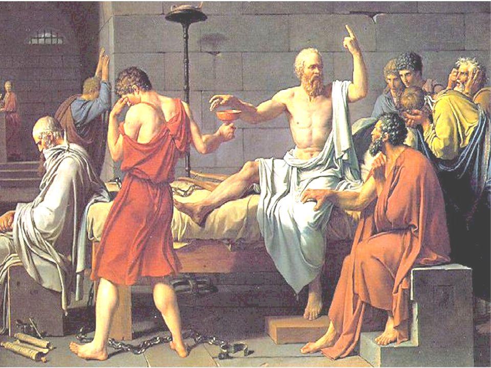 La muerte de Sócrates Sócrates fue acusado de corromper a los jóvenes y de introducir nuevos dioses en la ciudad.