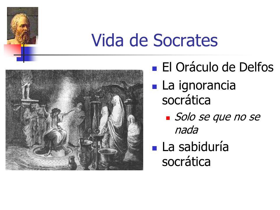 Vida de Socrates El Oráculo de Delfos La ignorancia socrática Solo se que no se nada La sabiduría socrática
