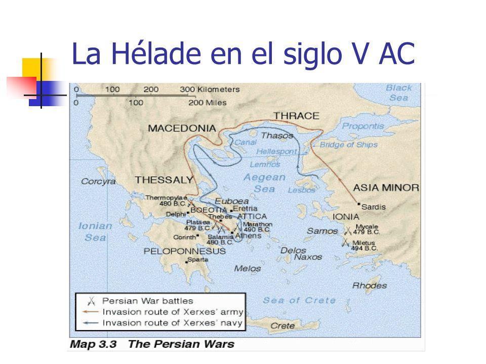 La Hélade en el siglo V AC