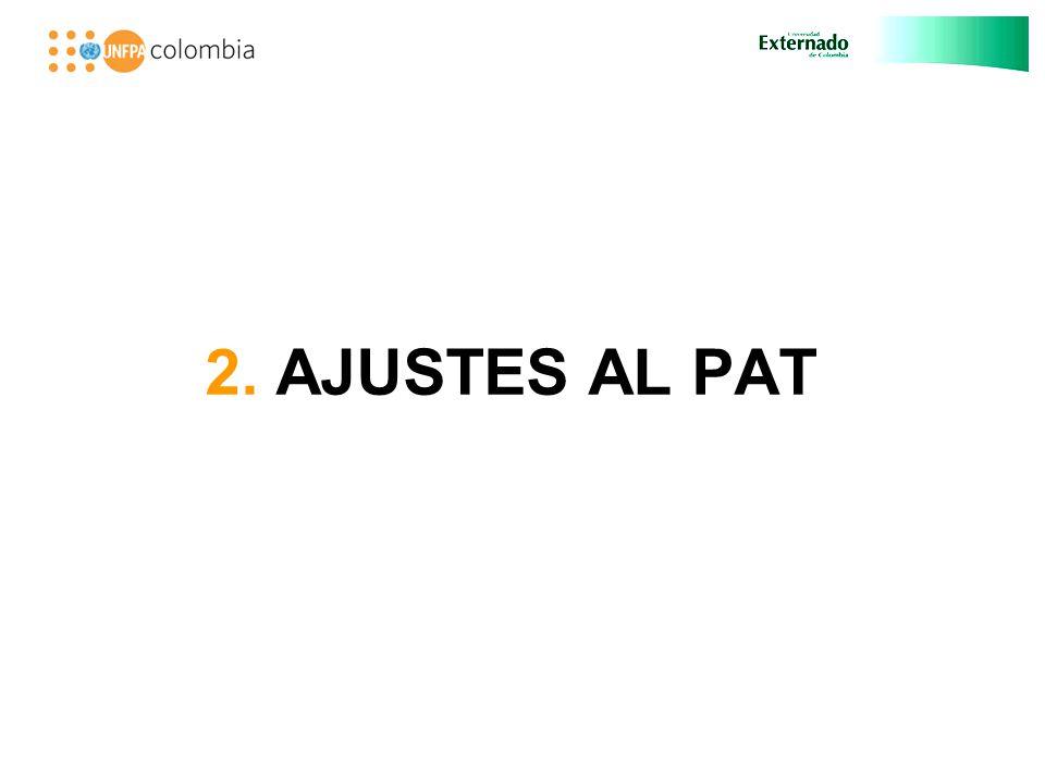 2. AJUSTES AL PAT