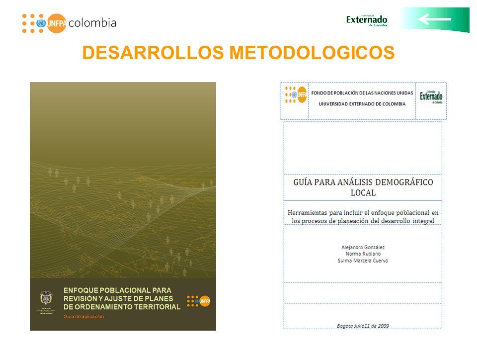 DESARROLLOS METODOLOGICOS
