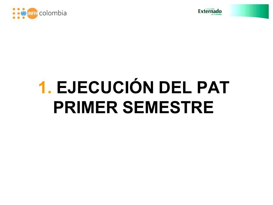 1. EJECUCIÓN DEL PAT PRIMER SEMESTRE