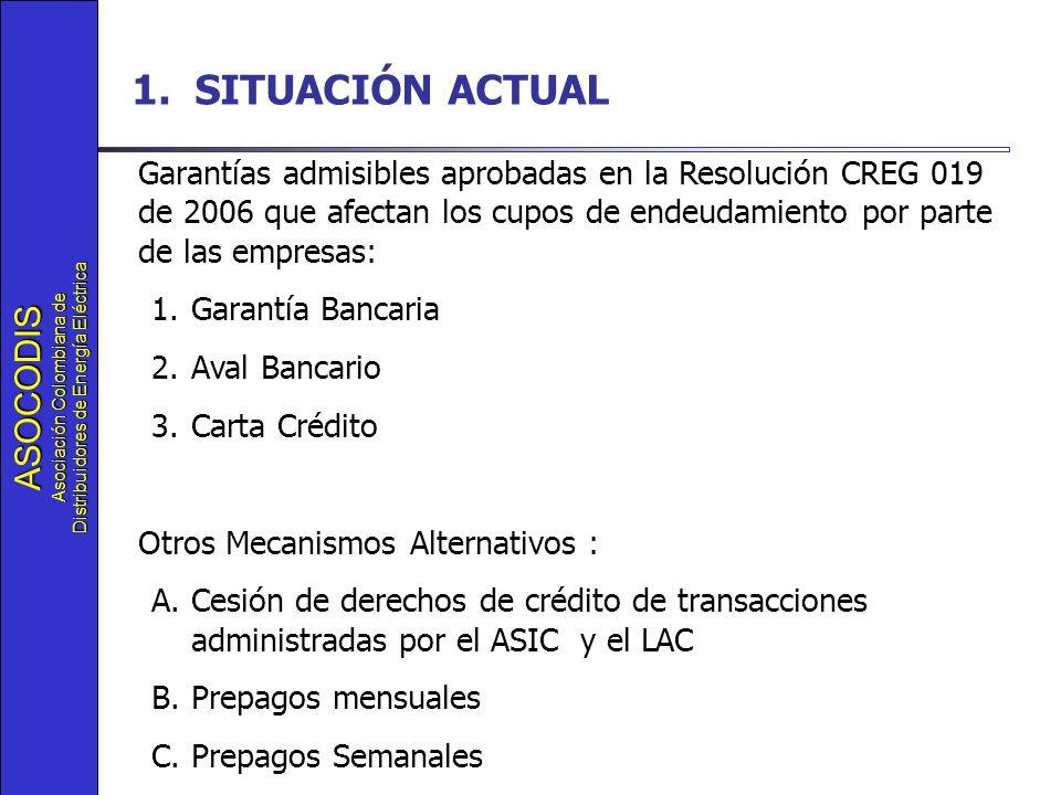 ASOCODIS Asociación Colombiana de Distribuidores de Energía Eléctrica 1.