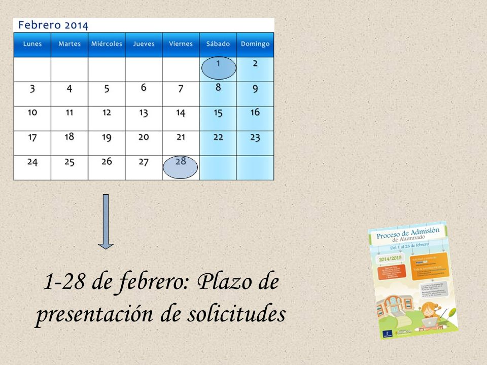 1-28 de febrero: Plazo de presentación de solicitudes
