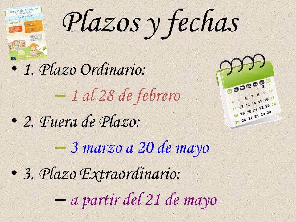 Plazos y fechas 1. Plazo Ordinario: – 1 al 28 de febrero 2.