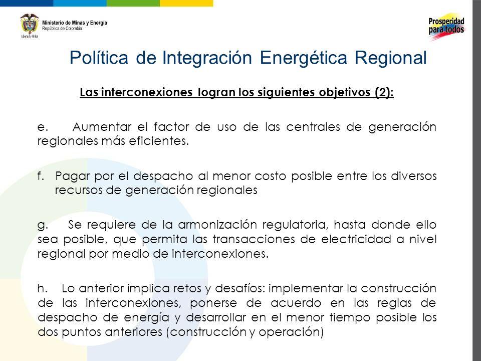 Política de Integración Energética Regional