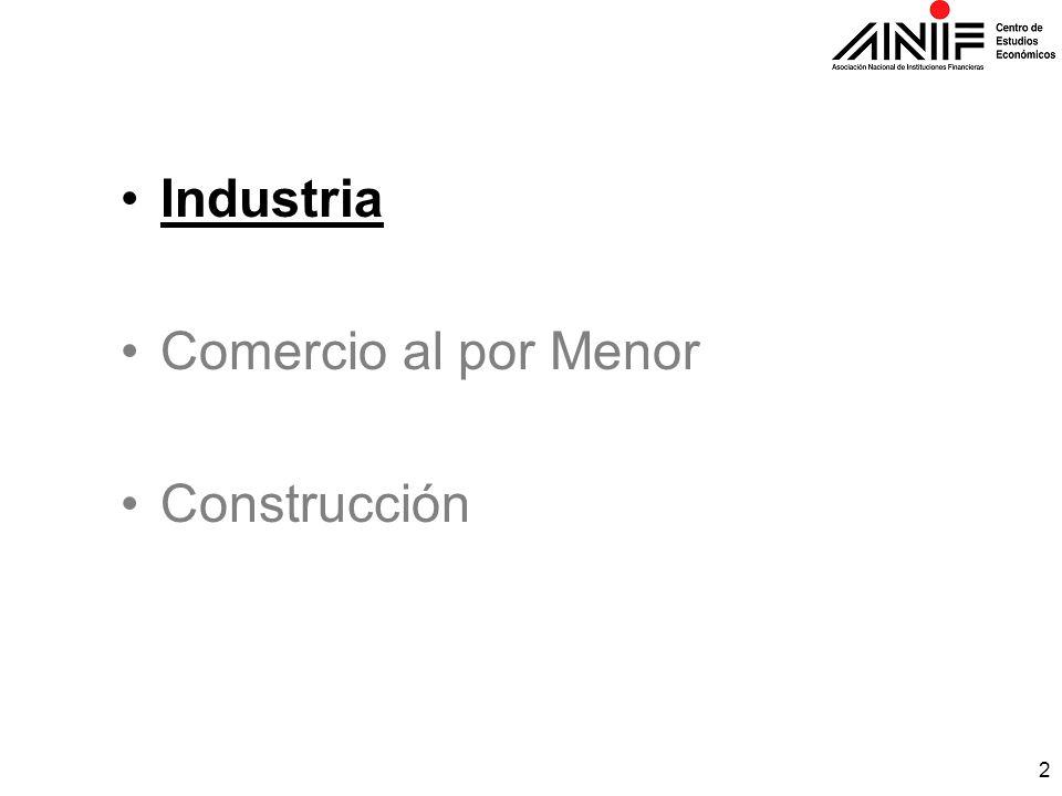 2 Industria Comercio al por Menor Construcción
