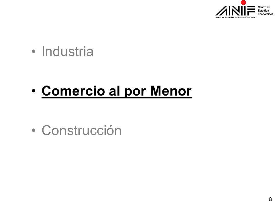 8 Industria Comercio al por Menor Construcción