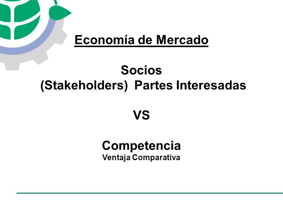 CONSEJO EMPRESARIAL COLOMBIANO PARA EL DESARROLLO SOSTENIBLE - CECODES Economía de Mercado Socios (Stakeholders) Partes Interesadas VS Competencia Ventaja Comparativa