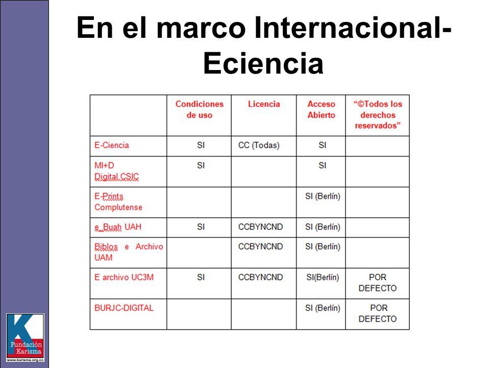 En el marco Internacional- Eciencia
