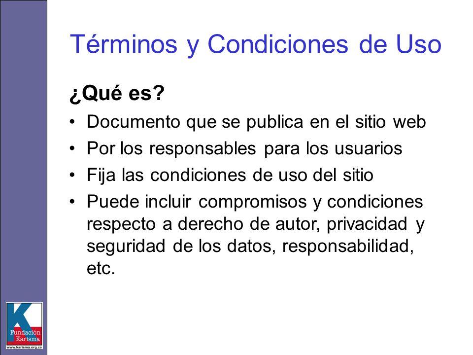 Términos y Condiciones de Uso ¿Qué es.