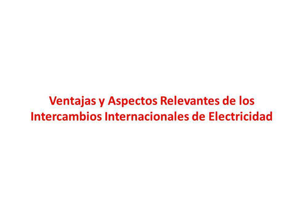 Ventajas y Aspectos Relevantes de los Intercambios Internacionales de Electricidad