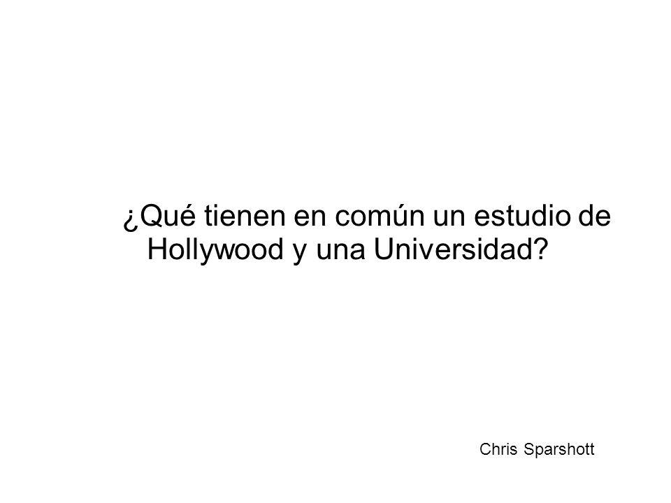 ¿Qué tienen en común un estudio de Hollywood y una Universidad Chris Sparshott