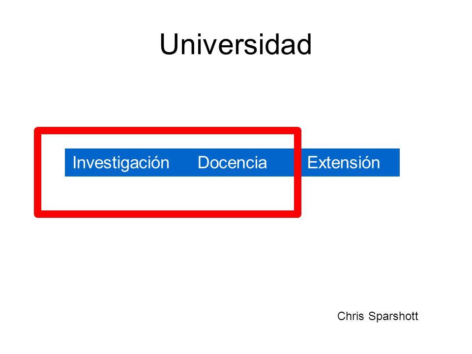 Universidad InvestigaciónDocenciaExtensión Chris Sparshott