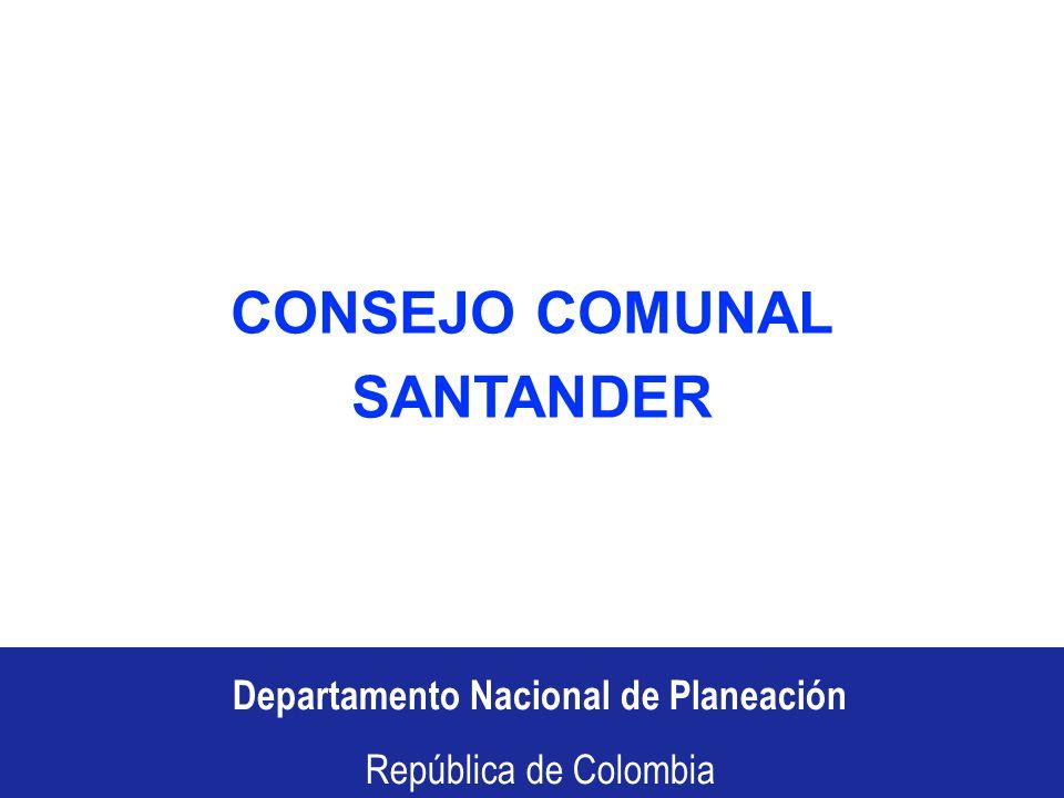 Departamento Nacional de Planeación República de Colombia Recursos propios