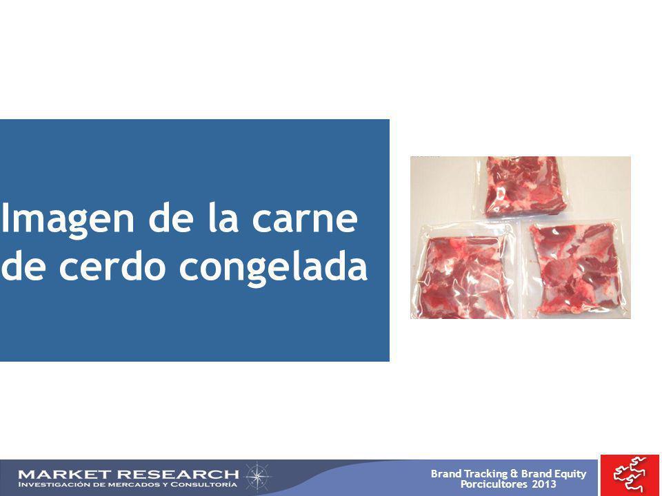 Brand Tracking & Brand Equity Porcicultores 2013 Imagen de la carne de cerdo congelada