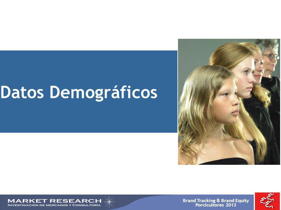 Brand Tracking & Brand Equity Porcicultores 2013 Datos Demográficos
