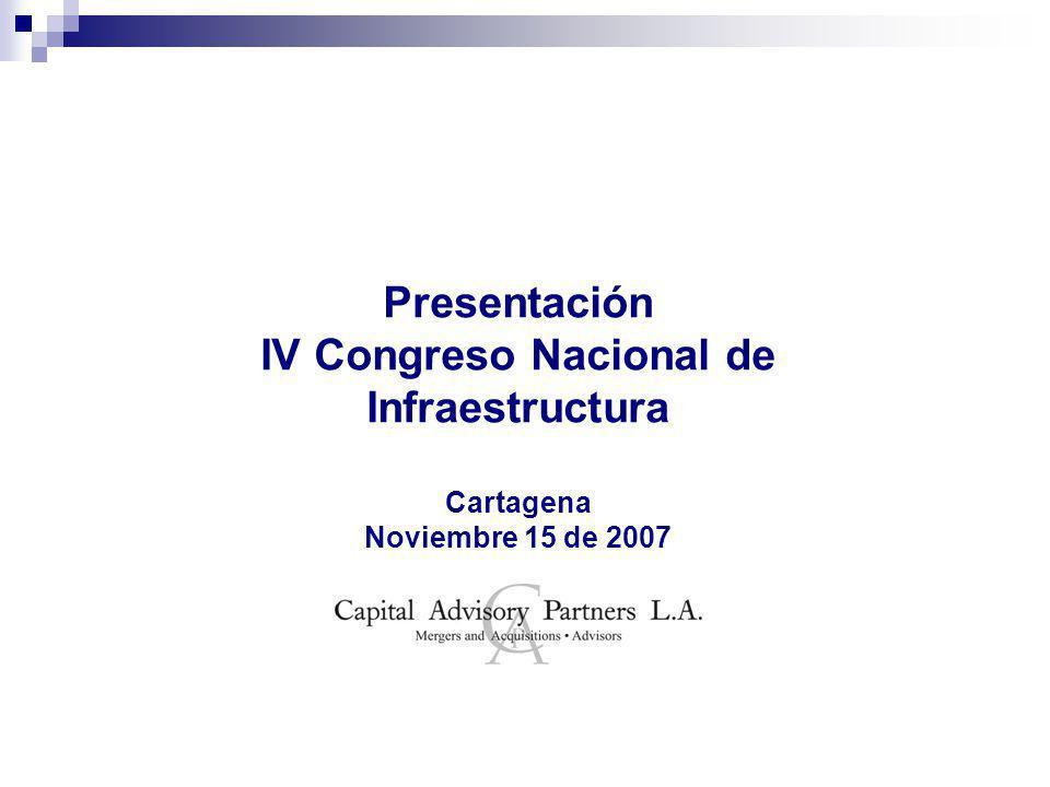 Presentación IV Congreso Nacional de Infraestructura Cartagena Noviembre 15 de 2007