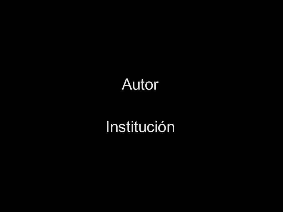 Autor Institución
