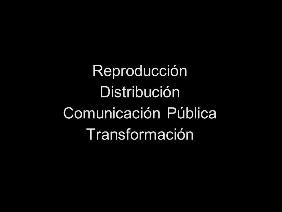 Reproducción Distribución Comunicación Pública Transformación