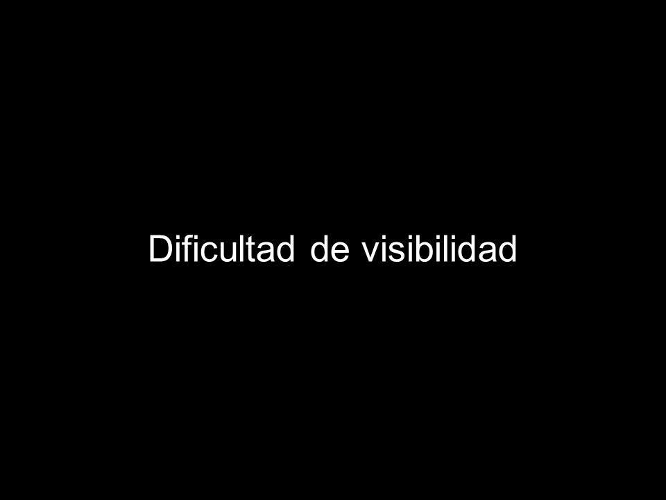 Dificultad de visibilidad