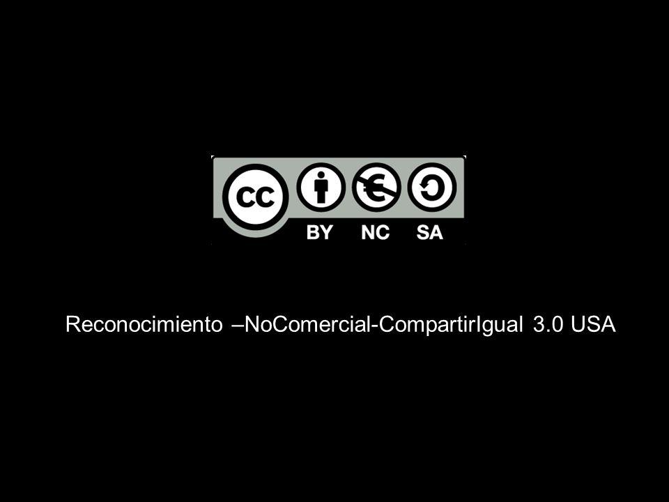 Reconocimiento –NoComercial-CompartirIgual 3.0 USA