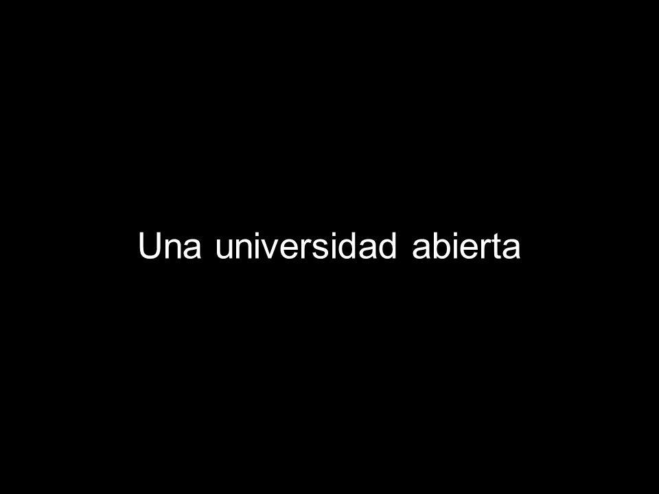 Una universidad abierta