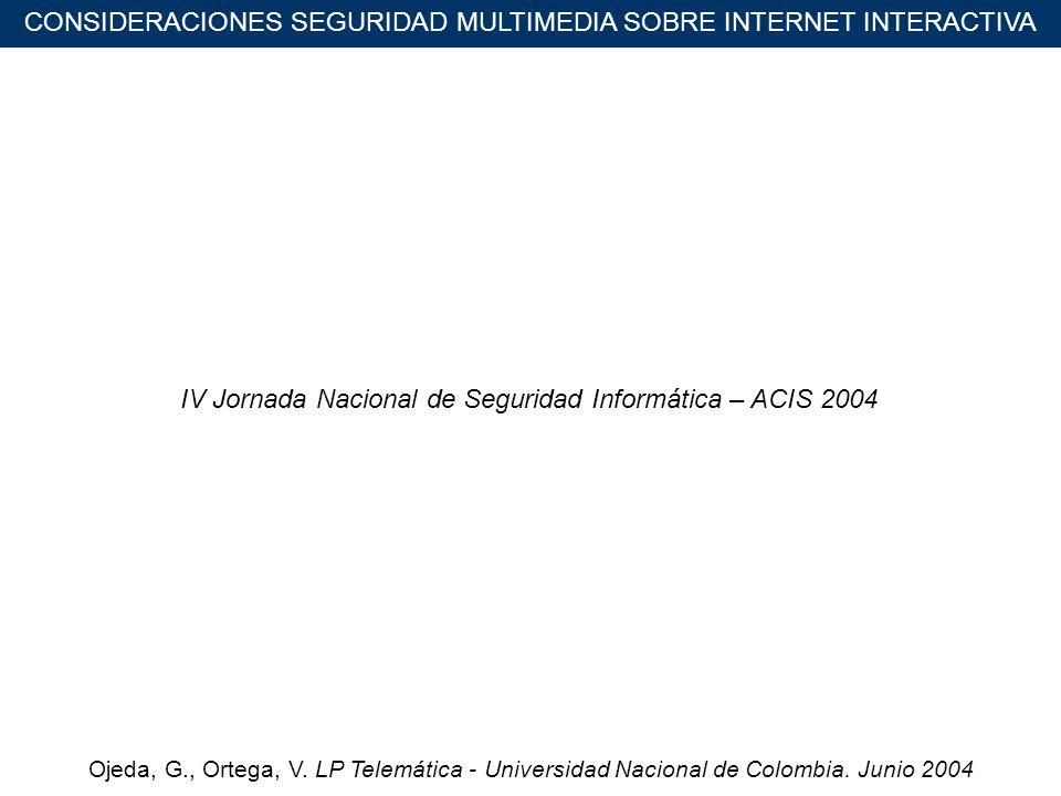 Ojeda, G., Ortega, V. LP Telemática - Universidad Nacional de Colombia.
