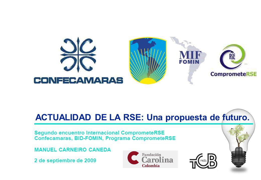 Segundo encuentro Internacional ComprometeRSE Confecamaras, BID-FOMIN, Programa ComprometeRSE MANUEL CARNEIRO CANEDA 2 de septiembre de 2009 ACTUALIDA