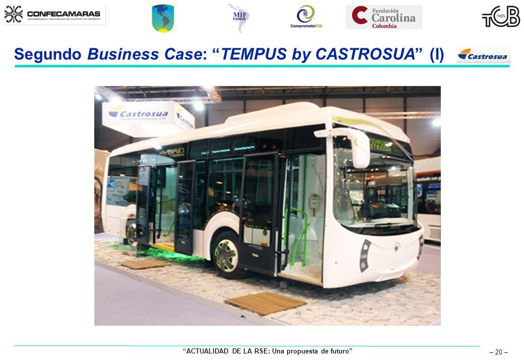 ACTUALIDAD DE LA RSE: Una propuesta de futuro – 20 – Segundo Business Case: TEMPUS by CASTROSUA (I)