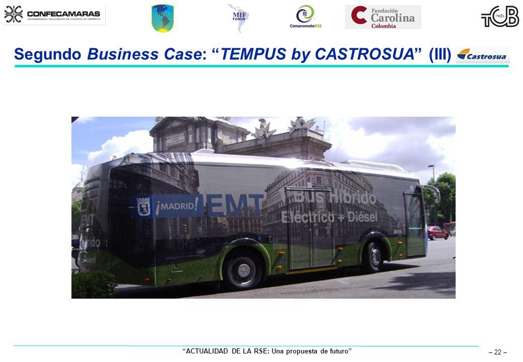 ACTUALIDAD DE LA RSE: Una propuesta de futuro – 22 – Segundo Business Case: TEMPUS by CASTROSUA (III)