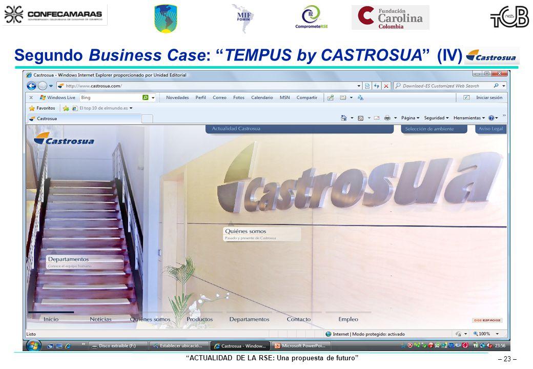 ACTUALIDAD DE LA RSE: Una propuesta de futuro – 23 – Segundo Business Case: TEMPUS by CASTROSUA (IV)