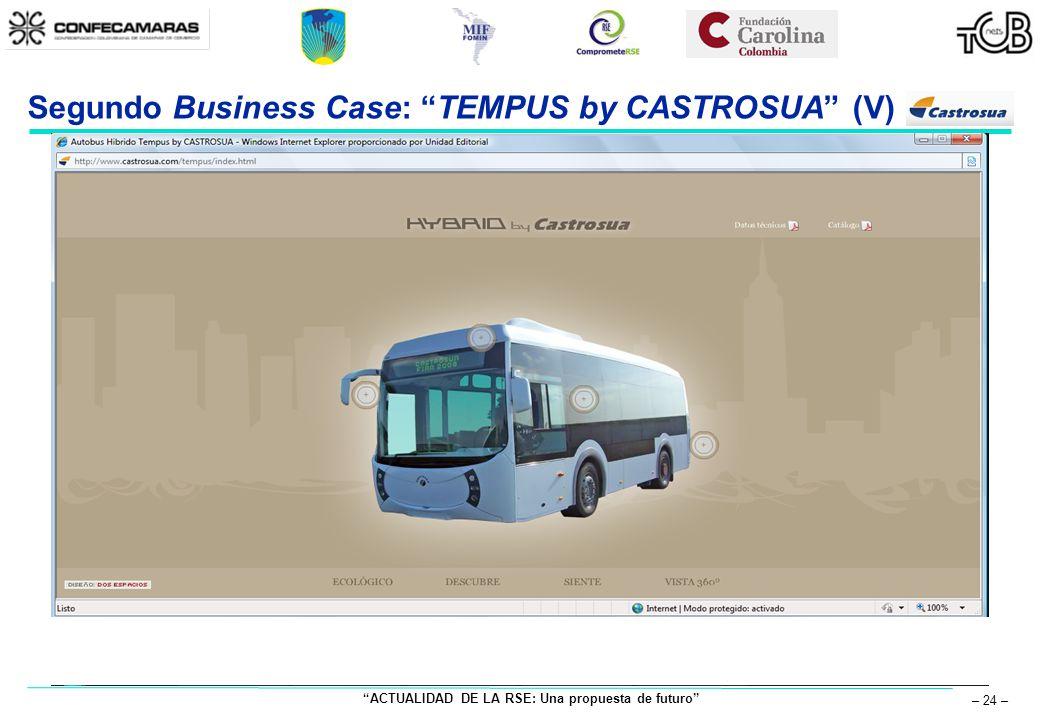 ACTUALIDAD DE LA RSE: Una propuesta de futuro – 24 – Segundo Business Case: TEMPUS by CASTROSUA (V)